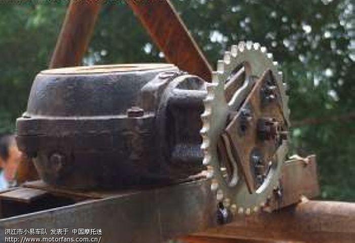摩托车的发动机改装飞机.你见过吗?