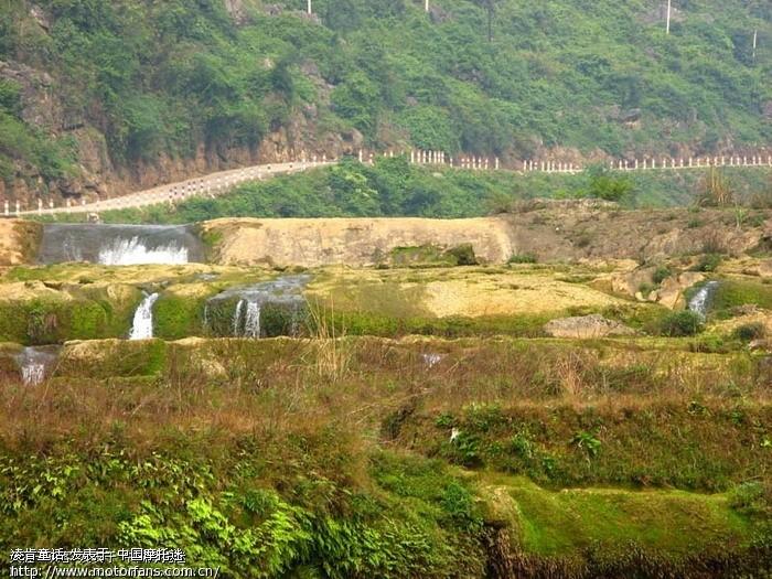 鹿寨响水景区有水和没水差别很大哟高清图片