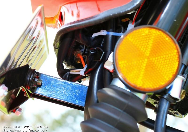 我的老三--gs125铃木王大灯改装为氙气灯(图片多多)