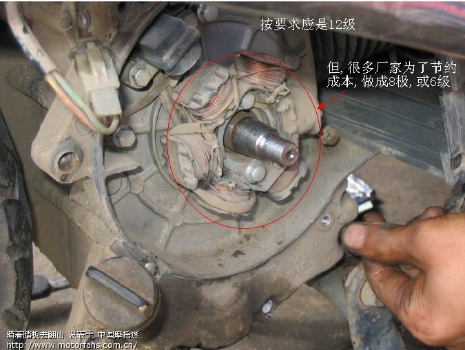 普及知识:踏板车磁电机【应用12极线圈】