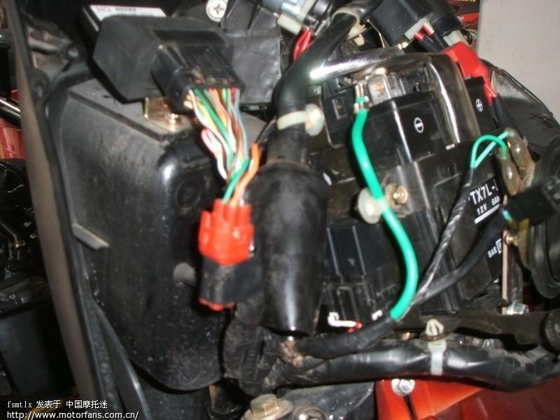 汽油摩托三轮车点火开关接线图
