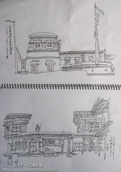 西安景点钢笔手绘