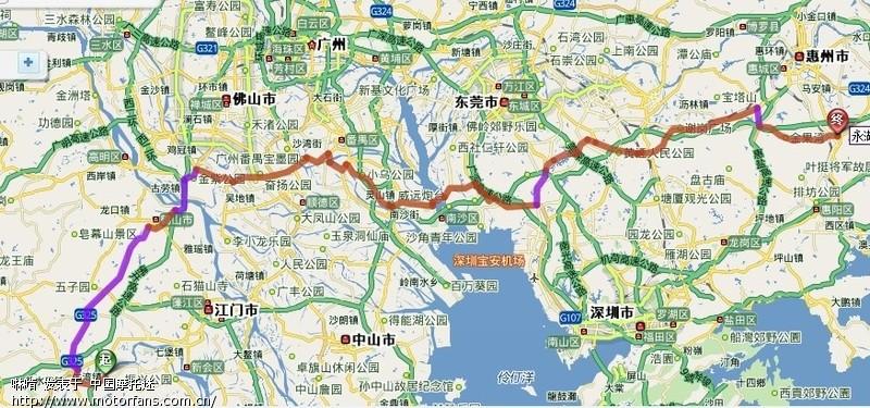东莞到江门新会_江门/新会到惠州惠阳区永湖镇的路线 有没人走过