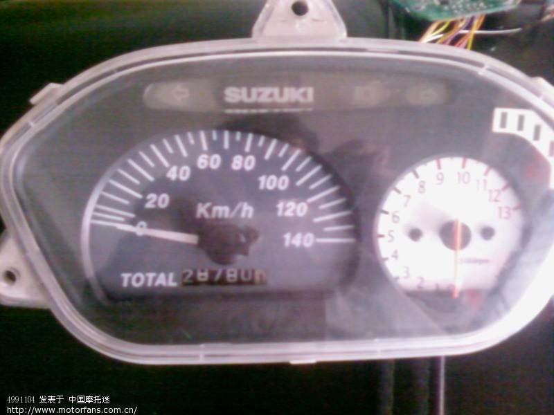 69 豪爵铃木-踏板车讨论专区 69 超人改装转速表和led油量显示