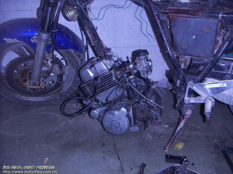 gs125 改双缸ca250发动机