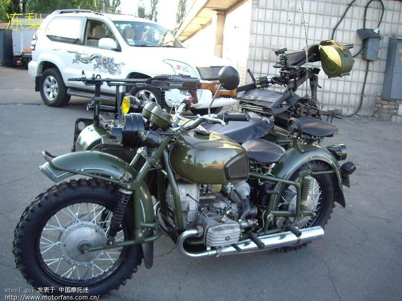 细看经典的军用摩托车:长江750