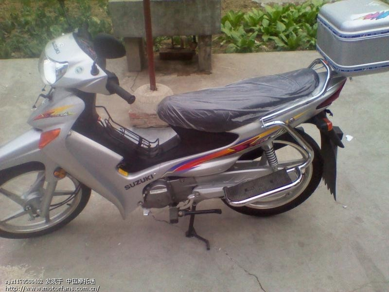 买了一辆铃木qs110-a,与摩友共享.