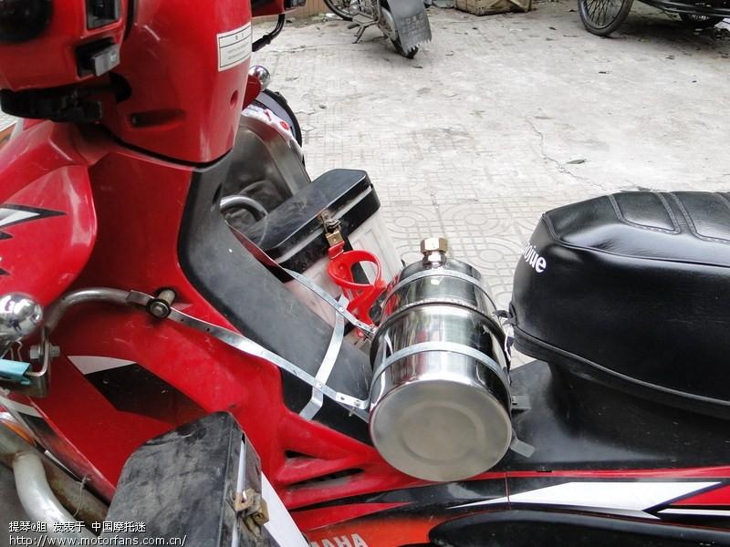 弯梁车加装副油箱简法,4月3日制作完成,见图.