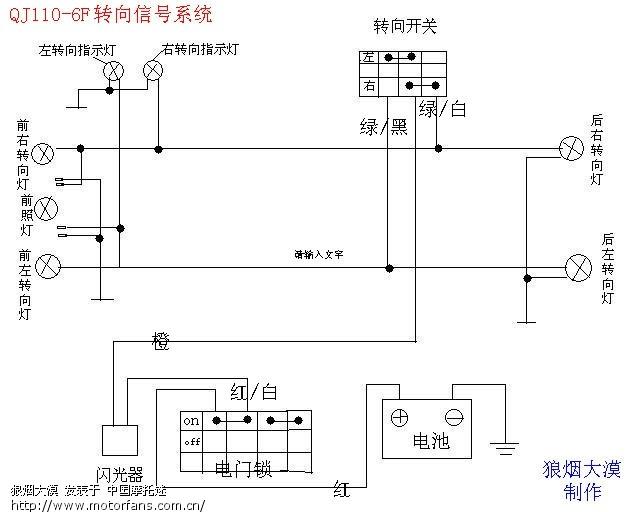 (原创)钱江风尚110-6f电路分解图