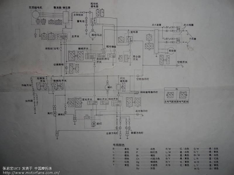 69 摩托车论坛 69 维修改装 69 天王xv250的服务手册,内有电路