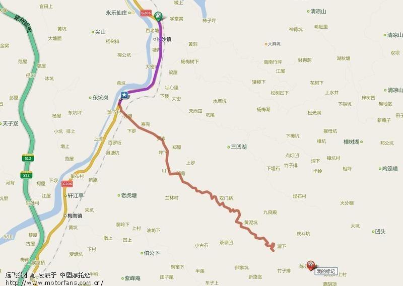 骑行梅县长沙镇陈公坪村 - 广东摩友交流区 - 摩托车
