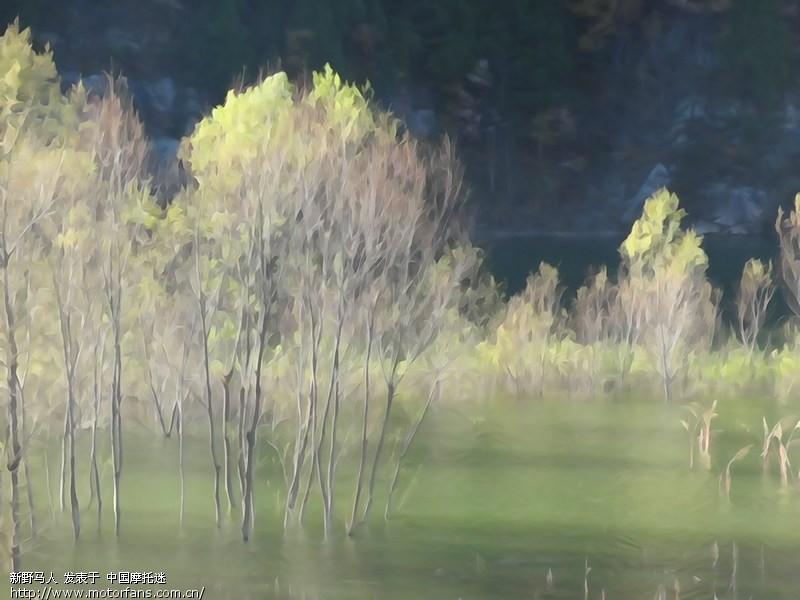 仙娥湖 水彩画