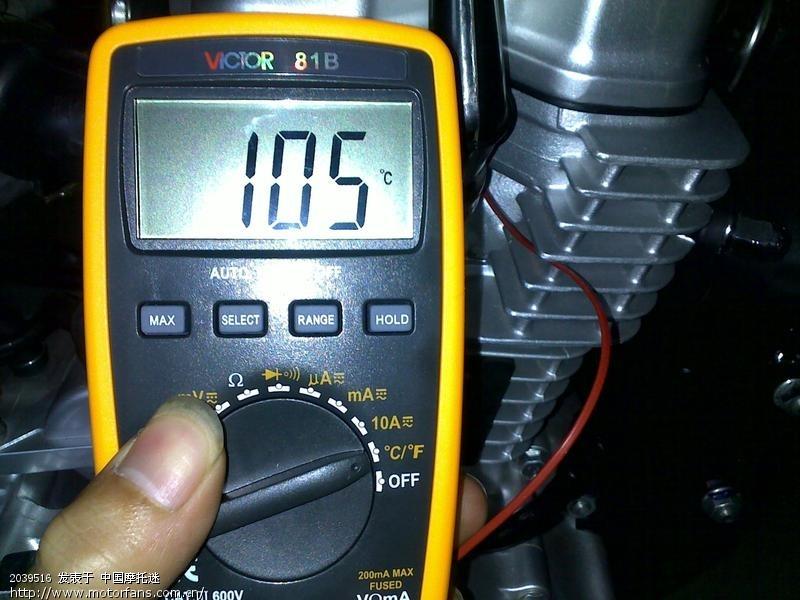 统御wh125 8,长城捷豹王 sj 10w 40 润滑油温度测试 统御 高清图片