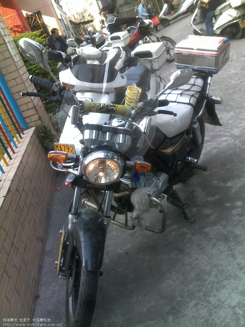 统御安装挡风玻璃 - 五羊本田-统御 - 摩托车论坛