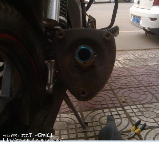 钱江龙19A原装排气管改装图片