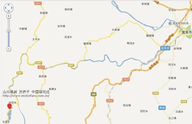 西昌到雷波县地图