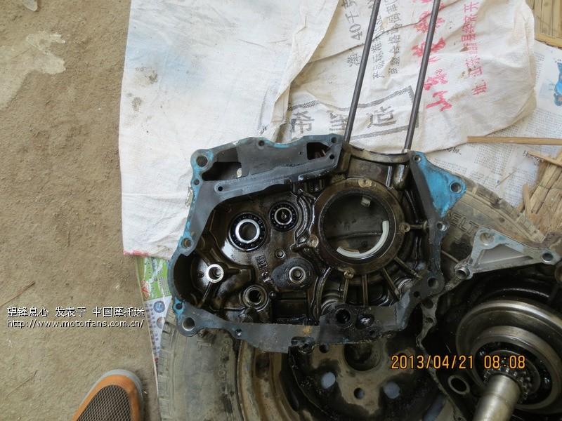 02年豪爵125-8摩托车大修发动机