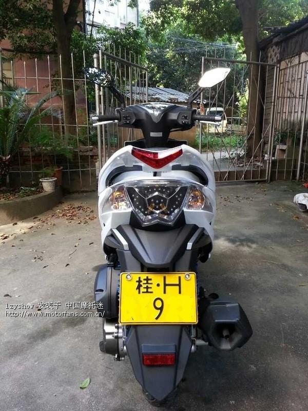 开摩托车有5年了,从桂林第一台光阳gp110劲丽