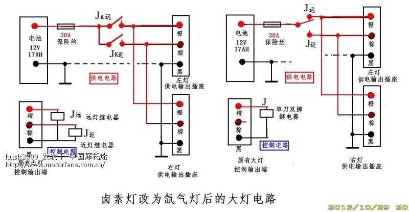 三轮摩托电路流程图