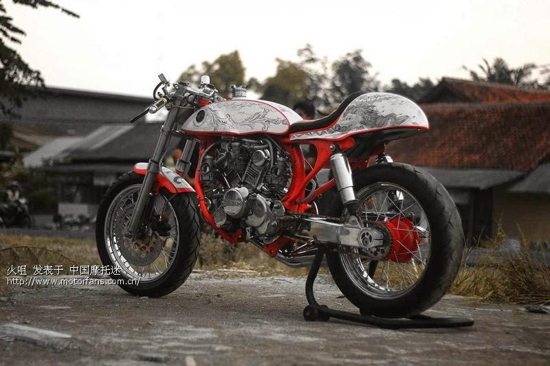 【印尼暴改】本田gl100单缸改装成w型3缸发动机,600cc