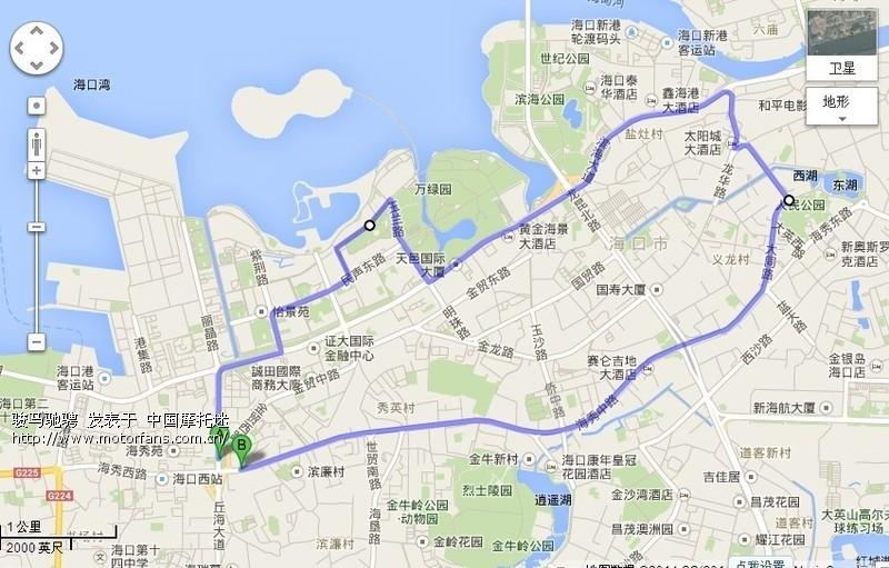 海南岛环游路线图 禁摩区域 详细图解 - 广东摩友交流