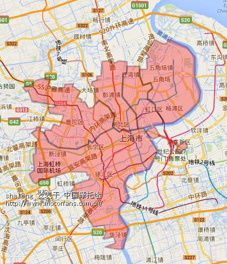 黄c禁止行驶区域电子地图 - 上海摩友交流区 - 摩托车