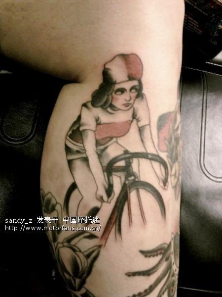 手绘纹身小单车
