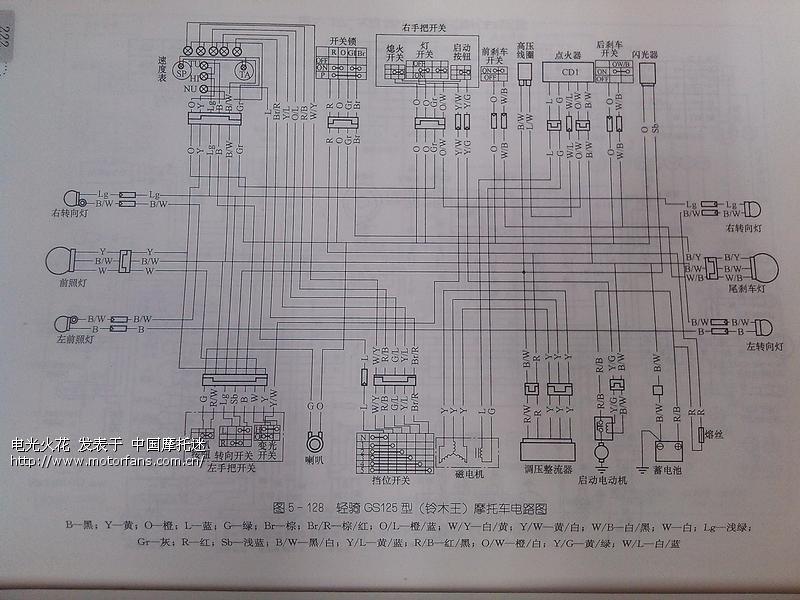 铃木王 gs125 电路图分享