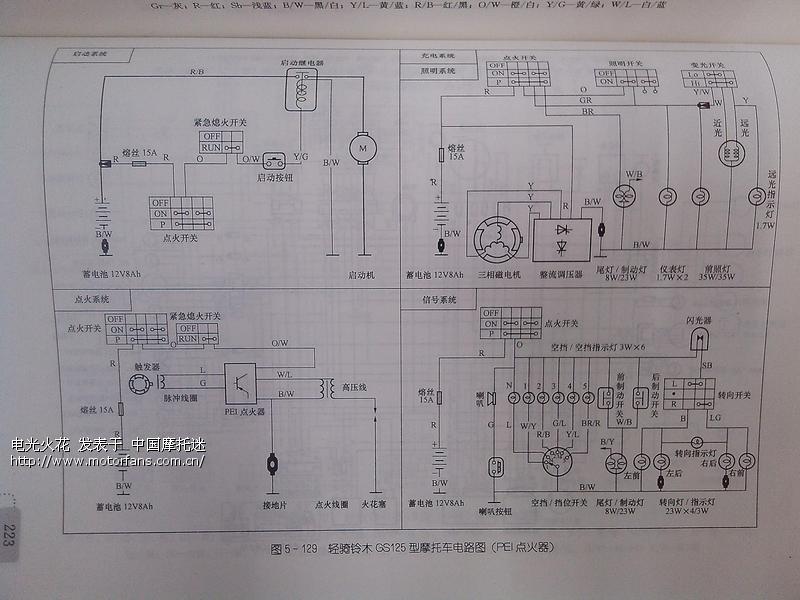 铃木王 gs125 电路图分享 - 维修改装 - 摩托车论坛