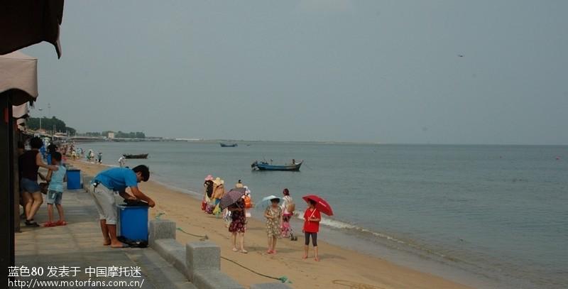 陪同老友家人游营口白沙湾海滨浴场图片