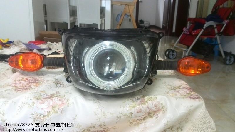 69 版主射米青:新手参考 摩托车改装q5透镜教程    4,接线试灯   将
