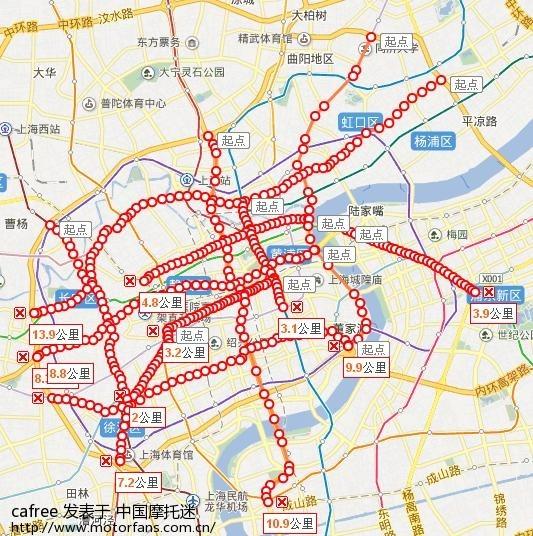 摩托车禁行路段 百度地图标记