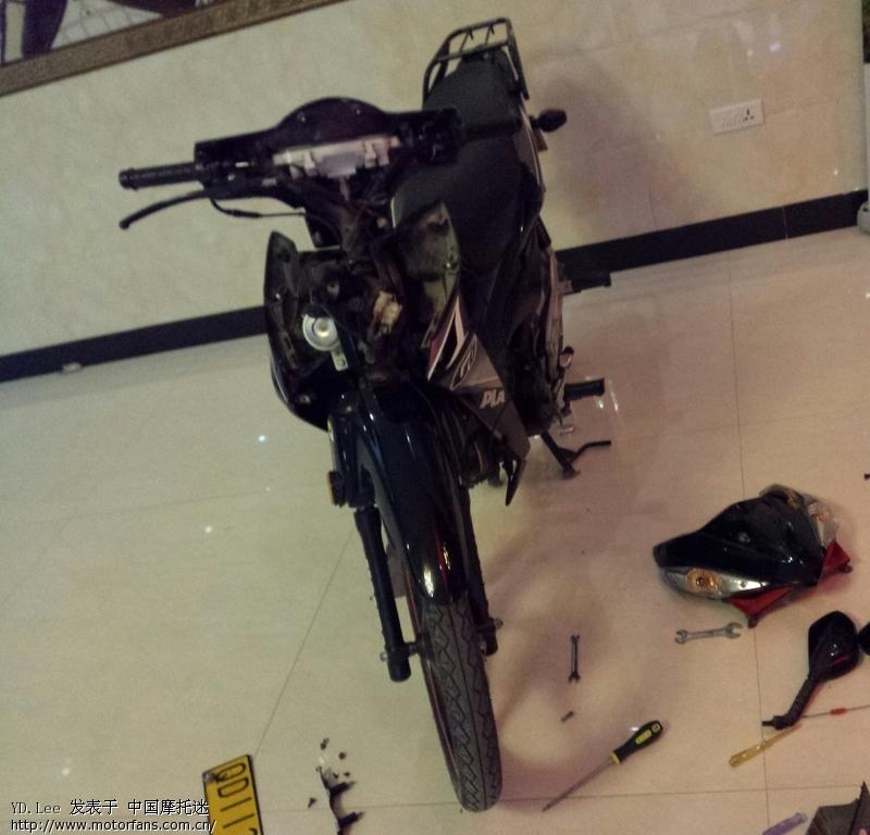 加装射灯一枚 - 弯梁世界 - 摩托车论坛 - 中国摩托