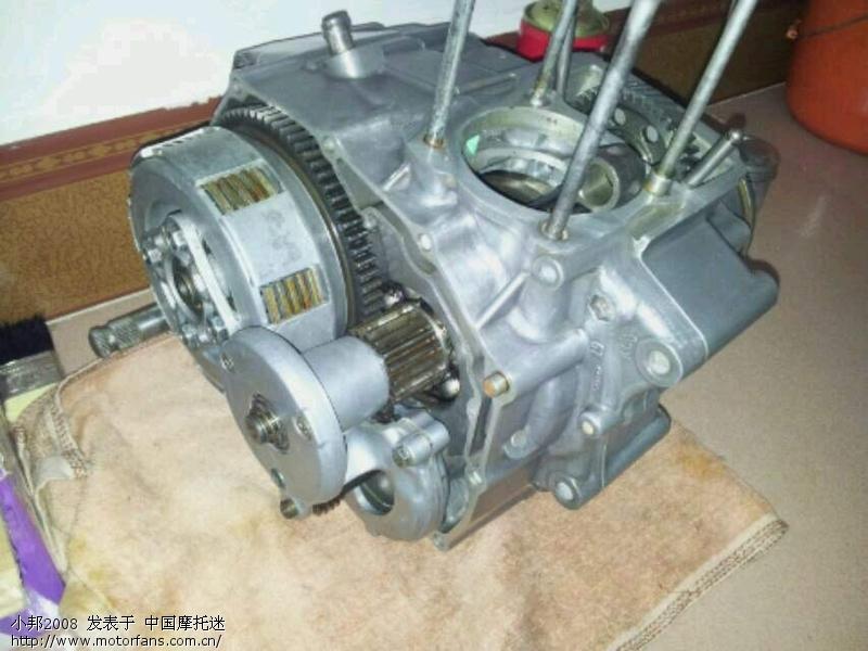 本田cg125发动机银猫图片