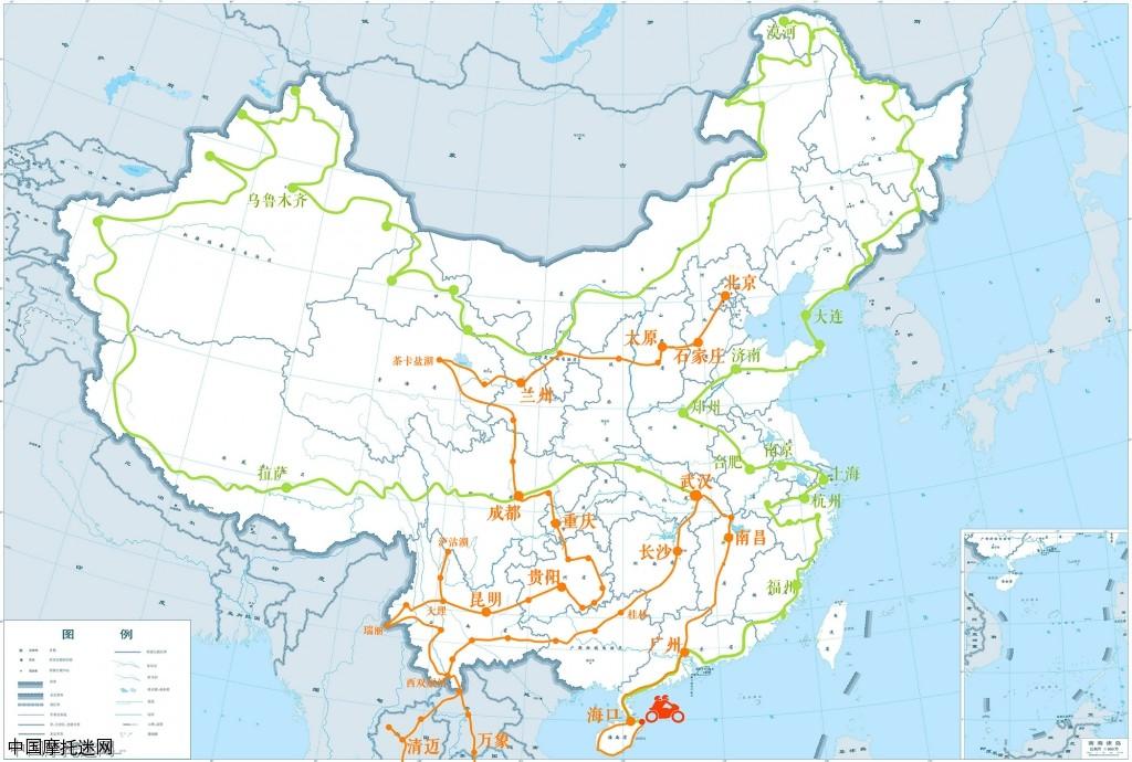 云贵川旅游地图