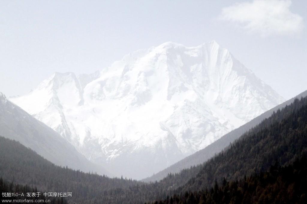 亚拉雪山近拍。