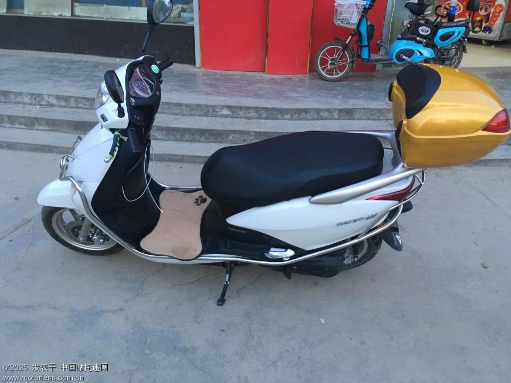 五羊本田佳御110t-a电喷水冷踏板摩托 发票合格证齐全