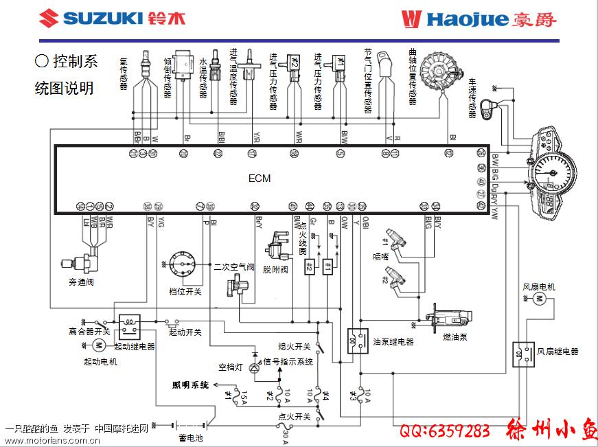 豪爵铃木-骑式车讨论专区 69 骊驰gw250 69 求gw250的高清电路图