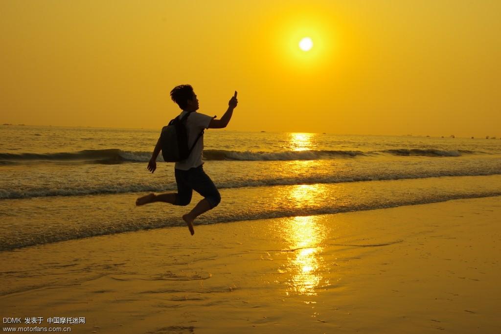 北海银滩的夕阳