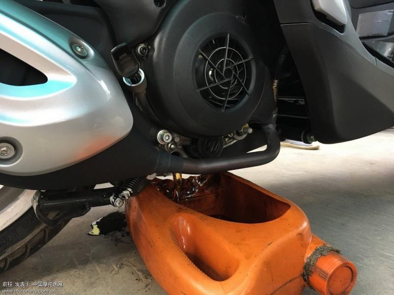 保养开始,换机油,机滤,齿轮油。