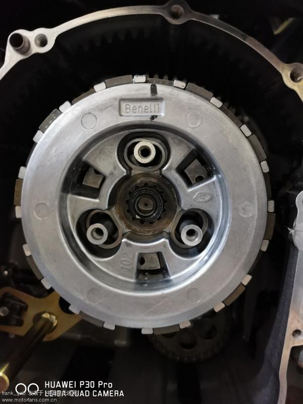 安装原厂滑动离合器,3根弹簧