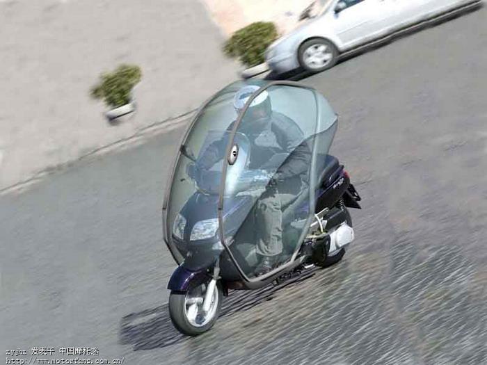 二轮全封闭摩托车_冬季骑摩托车不冷装备---全封闭两轮车蓬,有兴趣合作么?12 - 跨 ...