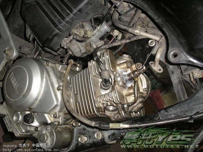 前两天拆开气缸跟发动机时候,改车师父都说,雅马哈发动机很不错