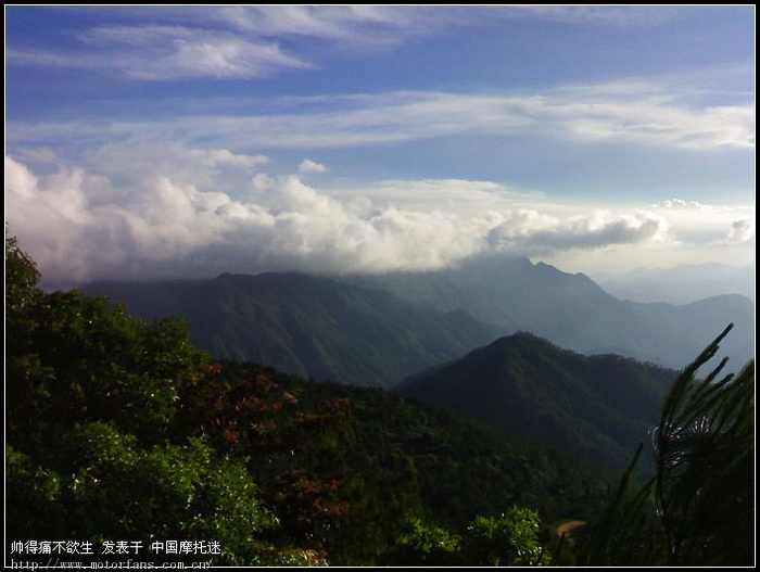 看看我的去信宜大雾岭的风景