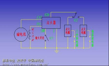 点火器在磁电机转速为1500r/min及8000r