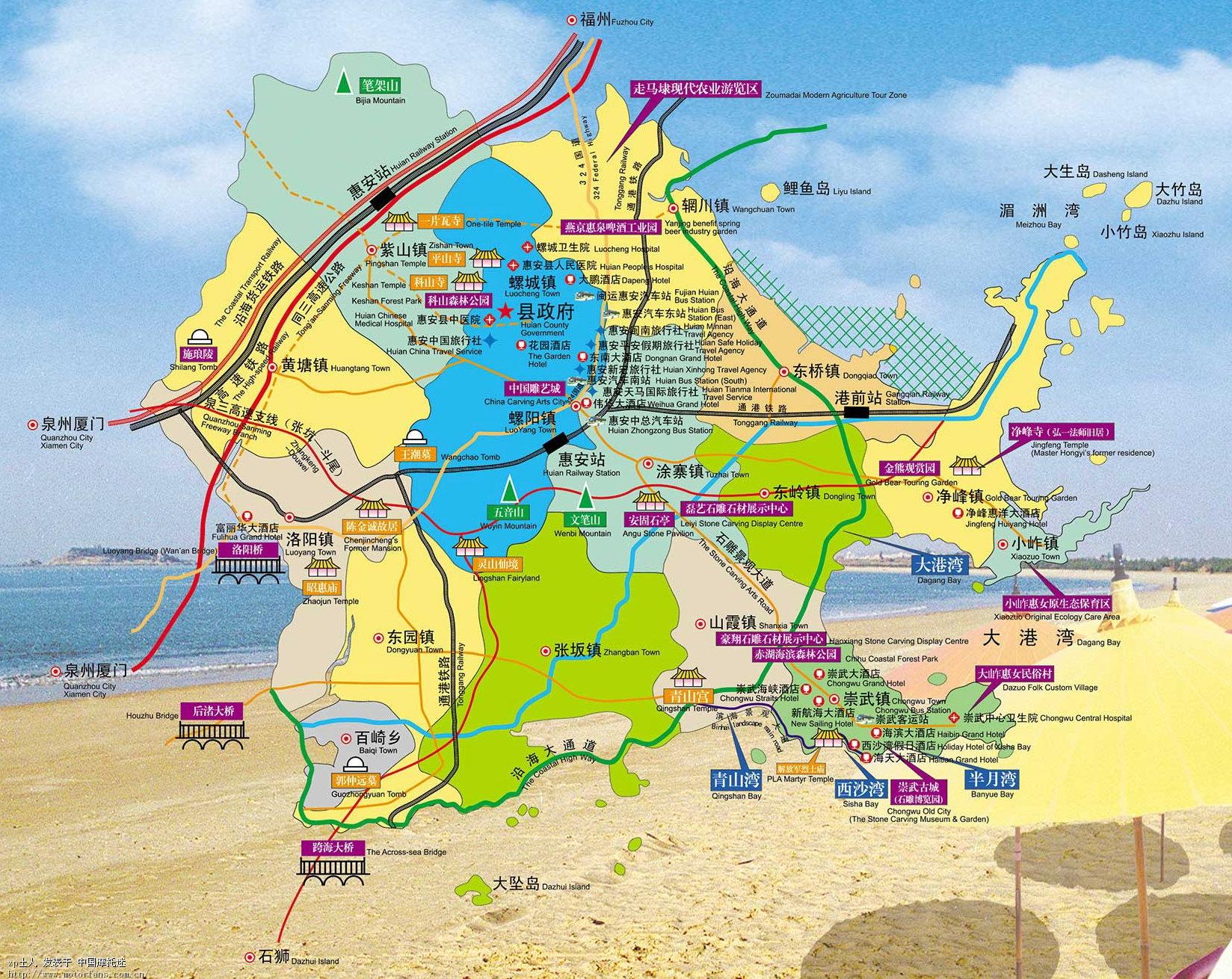 惠安旅游地图(精品)