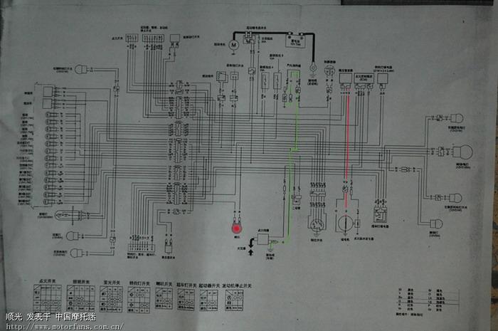 看看cbf150的电路图和防盗器的线路图