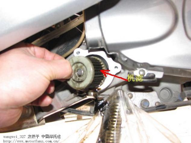 锋彩125换机油和机滤的详细图解
