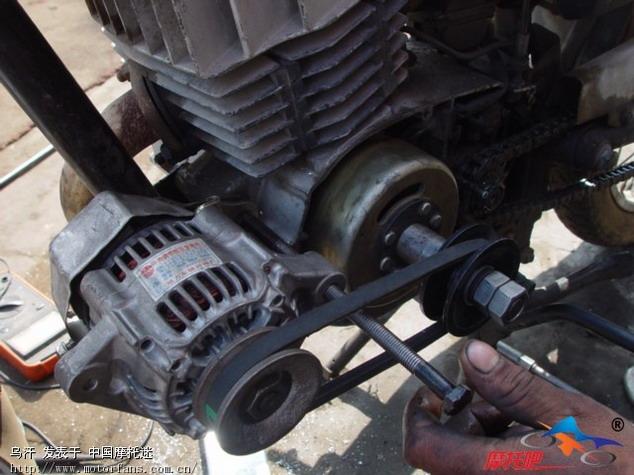 咨询:摩托车能带动多大功率的发电机电机轮?
