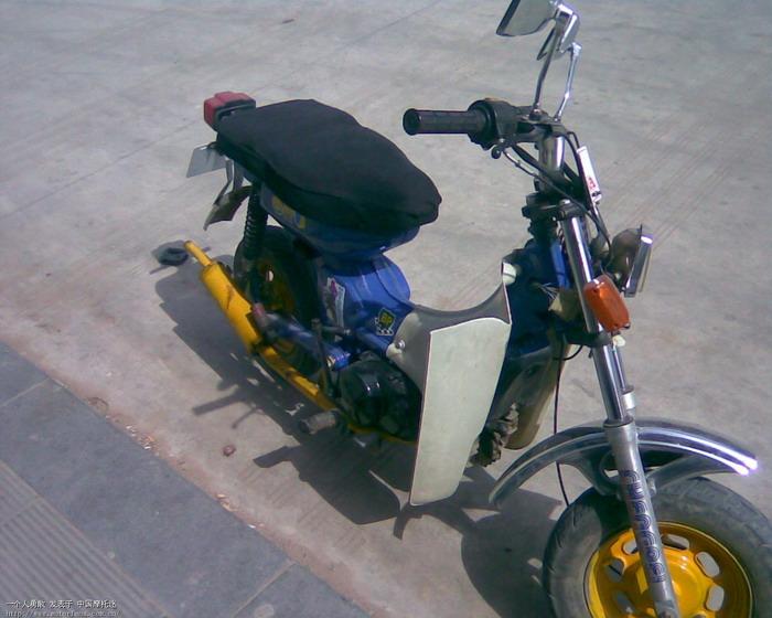 自己改装的cy80 - 维修改装 - 摩托车论坛 - 中国摩托